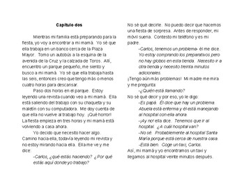 Spanish Short Story: La Fiesta de Sorpresa