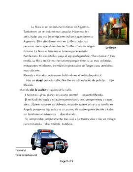FVR Spanish Story- Level 2+ La policía ejemplar Preterite/Imperfect/ Argentina