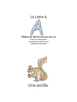 Spanish Sight Word A Book