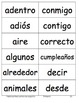 Spanish Sight Word Cards First Grade