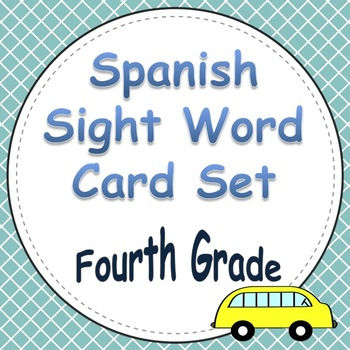 Spanish Sight Word Cards Fourth Grade