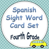 Spanish Sight Word Cards Fourth Grade
