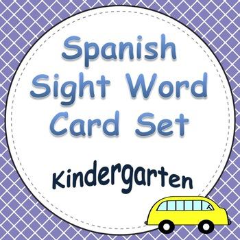 Spanish Sight Word Cards Kinder