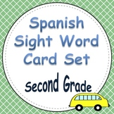 Spanish Sight Word Cards Second Grade
