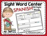 Spanish Sight Word Center-150 Palabras de Uso Frecuente