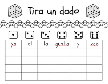 Spanish Sight Word Center Activity