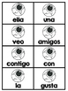 Spanish Sight Word Center / Halloween October/ Centro de Palabras