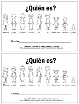 Spanish Reader - Quien Es