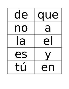 Spanish Sight Word Flash Cards - set 1