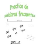 Spanish Sight Word Practice BUNDLE (Palabras frecuentes)