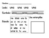 Spanish Sight Word Practice set 1