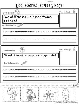 Spanish Sight Word Reader: Animales de África