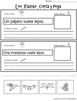 Spanish Sight Word Reader: Animales que vuelan