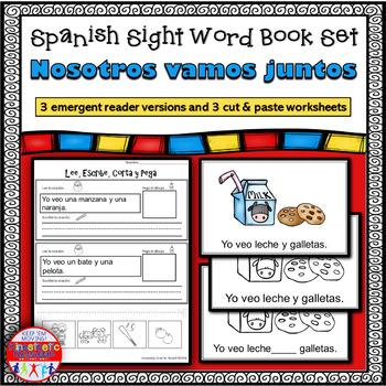 Spanish Sight Word Reader: Nosotros vamos juntos