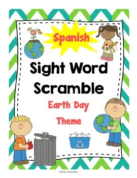 Spanish Sight Word SCRAMBLE Game