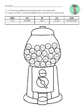 Spanish Sight Word Search