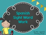 Spanish Sight Words Worksheets