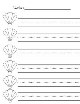 Spanish Sight Word Shells