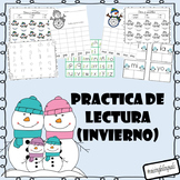 Spanish Sight Word, Syllable and Reading activities (Winter)