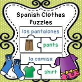 Clothes in Spanish Clothing Vocabulary Game La Ropa ESL Newcomer Activity Puzzle
