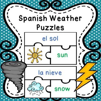 Spanish Sight Words Activity Spanish Weather Spanish Game ELL ESL Newcomer