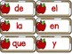 Spanish Sight Words - Apples theme