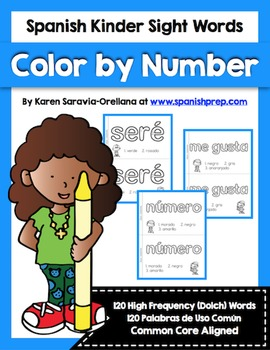 Spanish Sight Words Color By Number (Primer)