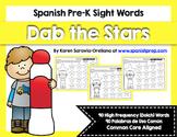 Spanish Sight Words Dab the Stars Bundle