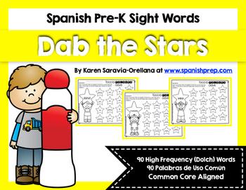 Spanish Sight Words Dab the Stars (Pre-Primer)