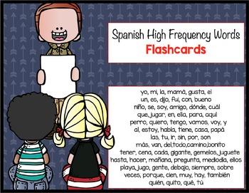 Spanish Sight Word Flashcards