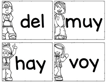 Spanish Sight Word Flashcards