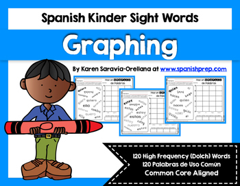 Spanish Sight Words Graphing (Primer)