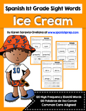Spanish Sight Words Ice Cream (1st Grade)