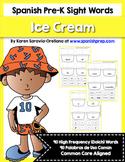Spanish Sight Words Ice Cream Bundle