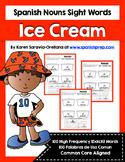 Spanish Sight Words Ice Cream (Nouns)
