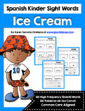 Spanish Sight Words Ice Cream (Primer)