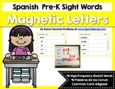 Spanish Sight Words Magnetic Letters Mats (Pre-Primer)