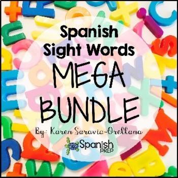 Spanish Sight Words Mega Bundle By Love Teach Joy Llc