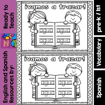 Spanish Sight Words Mini Booklet: AGUA