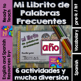 Spanish Sight Words Mini Booklet: AÑO
