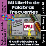 Spanish Sight Words Mini Booklet: AQUI