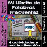 Spanish Sight Words Mini Booklet: BONITO
