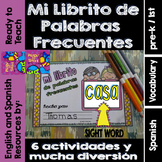 Spanish Sight Words Mini Booklet: CASA