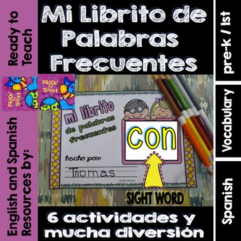 Spanish Sight Words Mini Booklet: CON