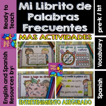 Spanish Sight Words Mini Booklet: DICE