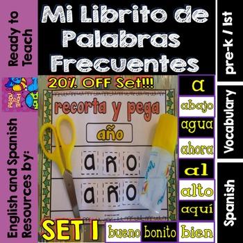 Spanish Sight Words Mini Booklets: SET 1 (10 Words)