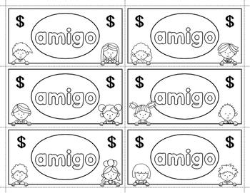 Spanish Sight Words Money (1st Grade)