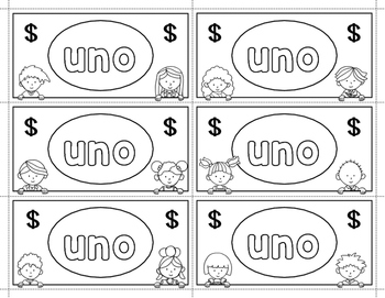 Spanish Sight Words Money (Primer)