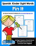 Spanish Sight Words Pin It (Primer)