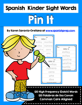Spanish Sight Words Pin It (Primer)